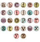 Dot Alphabet Set - More Letters and Numbers in Portfolio