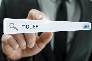 Word House written in search bar