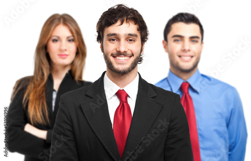 Three businessman portrait