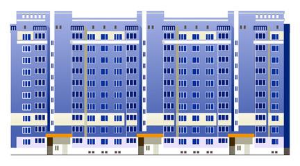 Beautiful multi-storey buildings illustrations