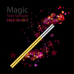 magic background with wand