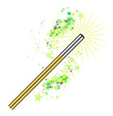 Beautiful magic background with wand