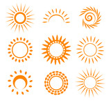 Fototapety Symbolic sun set