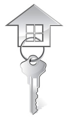 illustration of house key