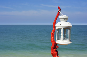 Lantern on the beach