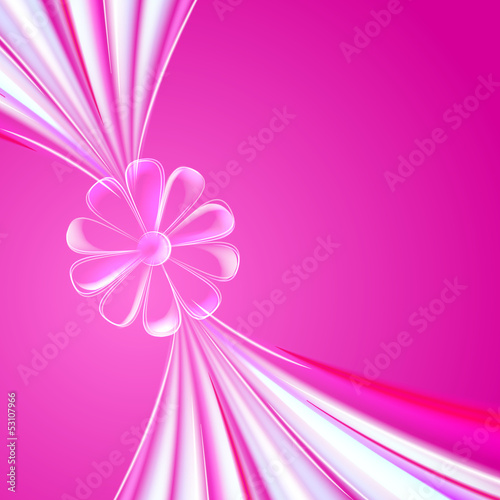 Abstract violet glass flower.\