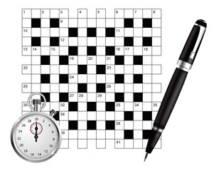 A blank crossword