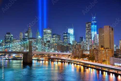 Poster New York City and Tribute in Light