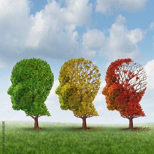 Leinwandbild Motiv Brain Aging