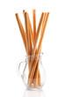 Breadsticks in a glass jug