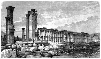 Palmyra Ruins - View 19th century