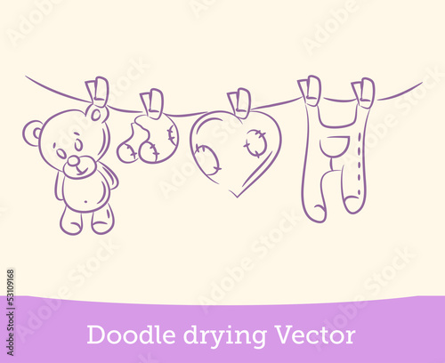doodle drying - 53109168