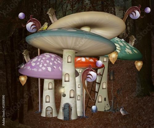 Mushrooms fantasy palace