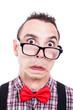 Shocked nerd face