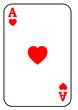 Spielkarte Herzas