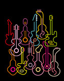 Guitars - vector illustration