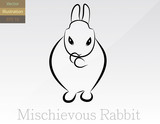 Mischievous Rabbit Vector Illustration - EPS 10
