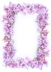 Pretty romantic lilac frame