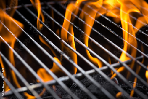 Fotobehang Grill / Barbecue Grill fire