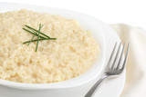 traditional italian dish - risotto- isolated white