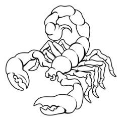 Stylised Scorpion illustration