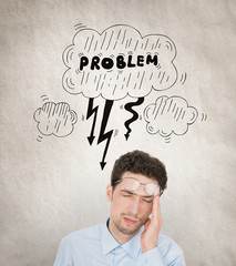 Stressed businessman concept