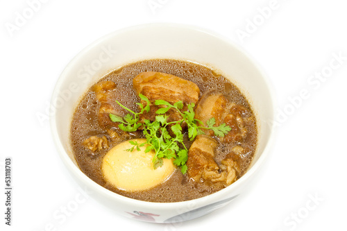 Thai Food ,PaLo (Pork stew with egg)