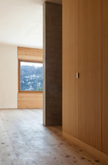 architecture modern design, mountain home, view from corridor