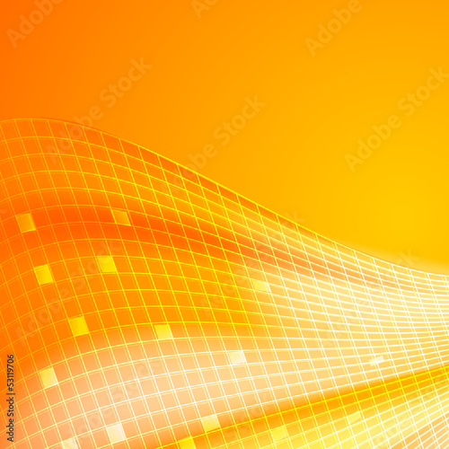 Abstract orange tiles