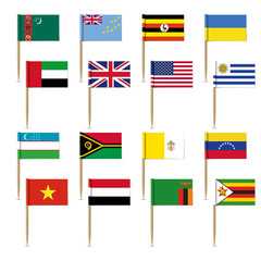 Set of international flags