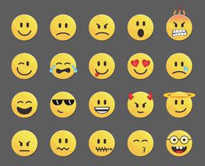 Set of 20 smileys