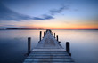 canvas print picture - Jetty