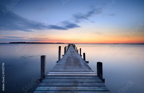 canvas print picture Jetty
