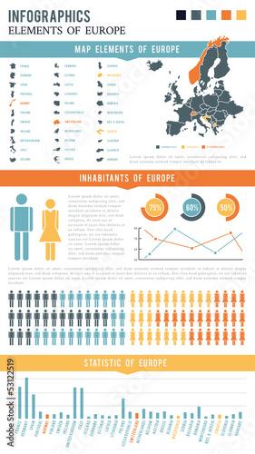 Infographics Elements Europe