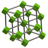 Green molecular structure icon
