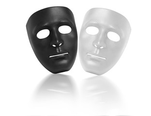 mask black and white