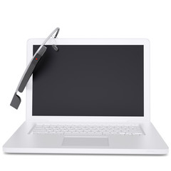 Google Glass and a laptop