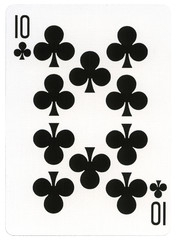 Playing Card - Ten of Clubs