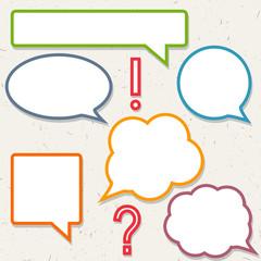 Set of colorful speech bubbles, frames for you design