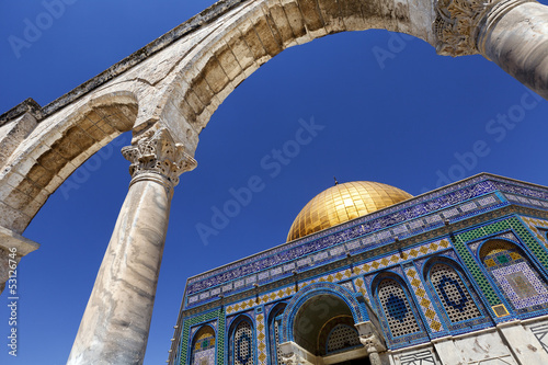 Dome of the Rock through an Arch