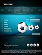 Abstract Football Website template bright colorful vector