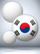 South Korea Flag Glossy Button