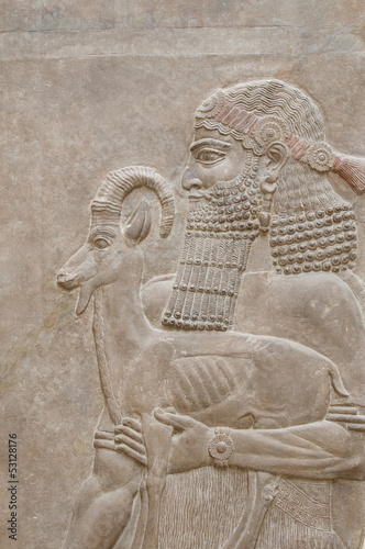 Ancient Babylonia and Assyria sculpture bas relief