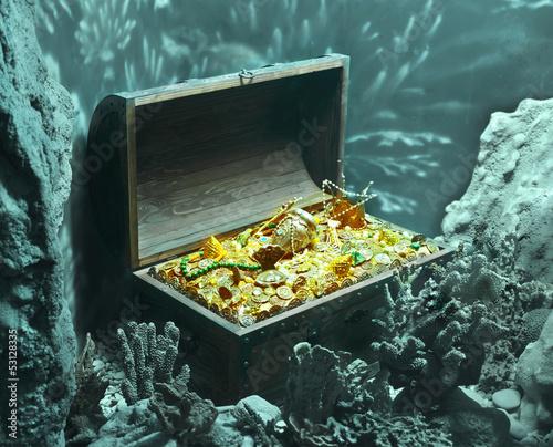 Fotobehang Koraalriffen sunken treasure