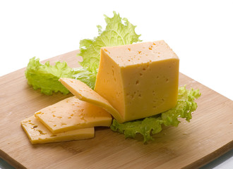 Cheese with salad