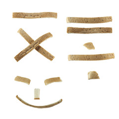 Bread math and smiling face