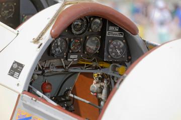 Cockpit Kleinflugzeug