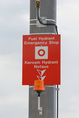Kerosin Hydrant Notaus