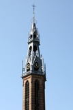 Tower from the St.Jozef Cathedral from 1887 in Groningen.