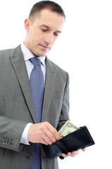 us dollar banknote in wallet